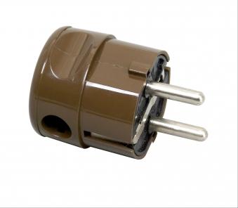 Kopp Kunststoff - Schutzkontakt - Winkelstecker braun Bild 1