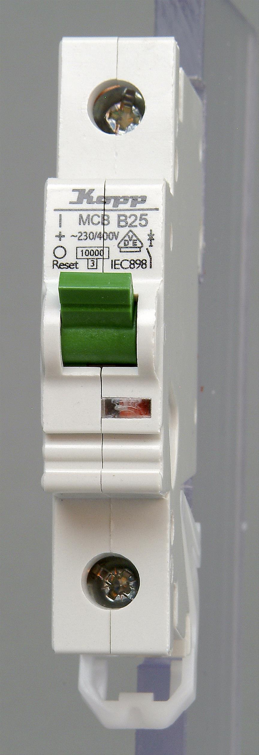 Kopp Leitungsschutzschalter 1polig  B25 Bild 1