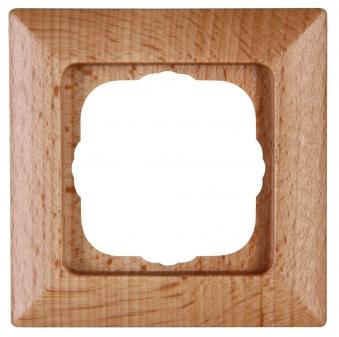 Kopp MILANO buche Abdeckrahmen für Schalter MILANO buche 1-fach Bild 1