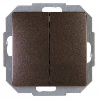 Kopp PARIS Lichtschalter / Serienschalter palisander braun Bild 1