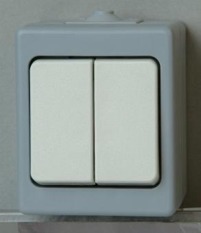 Kopp STANDARD Serienschalter AP - Feuchtraum grau Bild 1