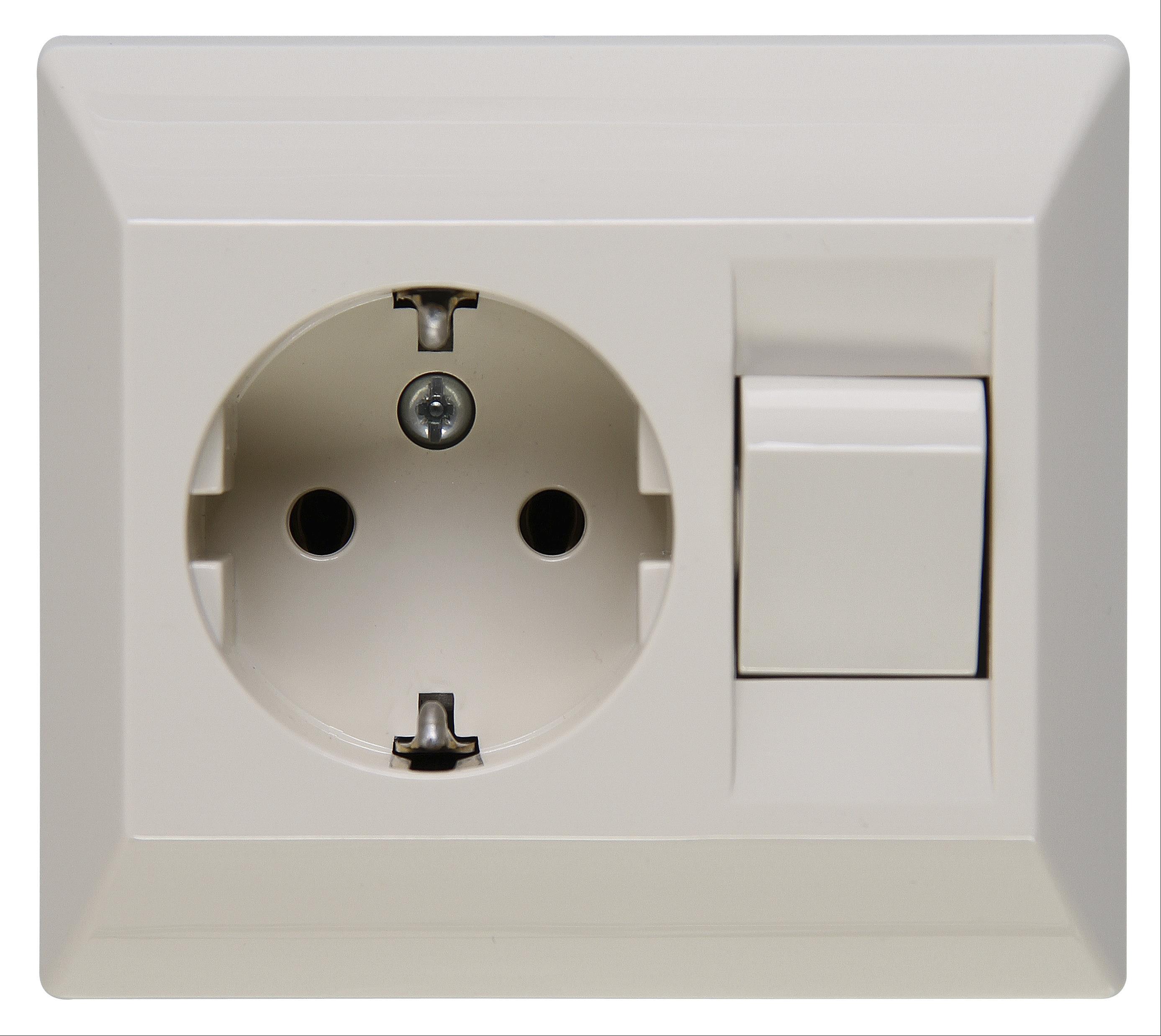 Kopp Schutzkontakt - Steckdose mit Universalschalter Bild 1