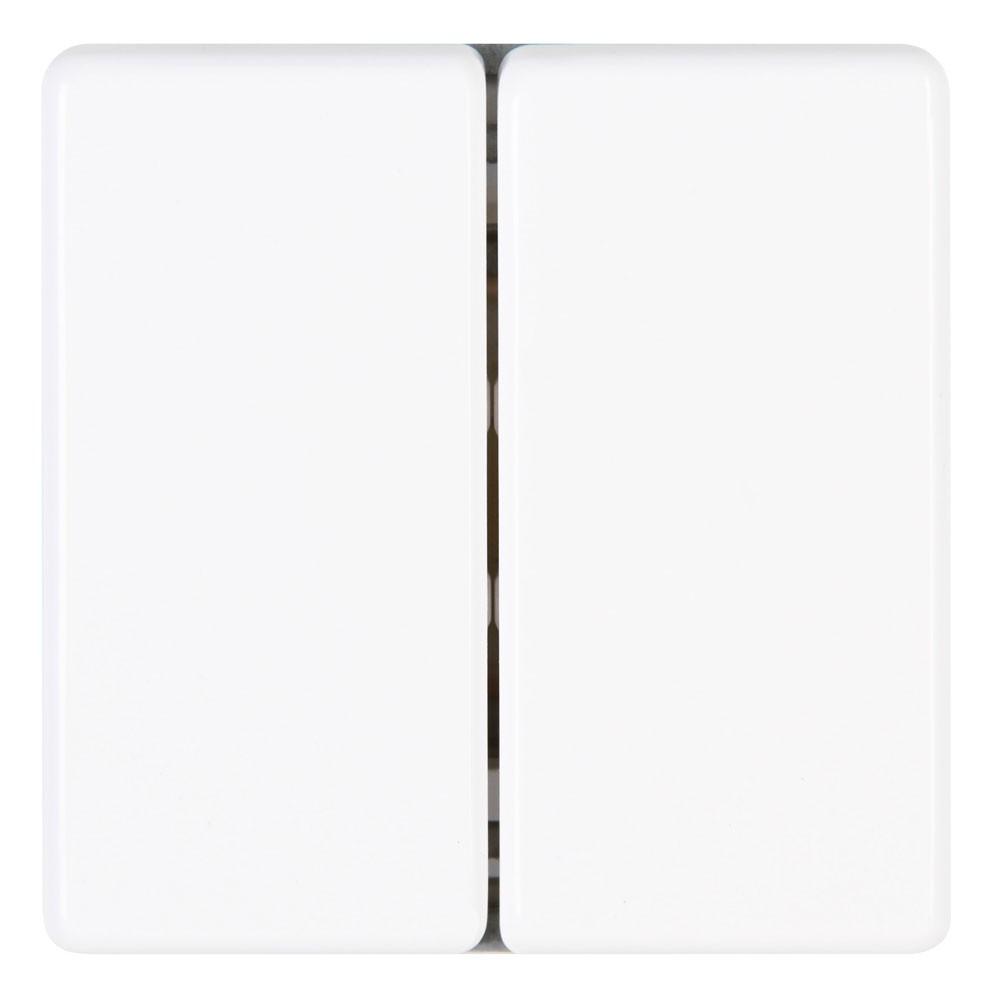 Kopp VISION Lichtschalter / Serienschalter aktis weiß Bild 1