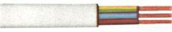 PVC-Schlauchleitung H03VV-F 3G0,75mm², 25m-Ring,ws Bild 1