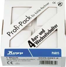 Profi-Pack á 4 Universal-Schalter A/W VISION arkt Bild 1