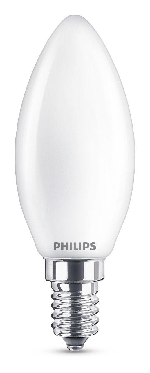 Philips LED Kerzenlampe E14 matt 4,3 Watt warmweiß A++ Bild 1