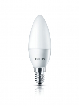 Philips LED Kerzenlampe E14 matt 4 Watt Bild 1