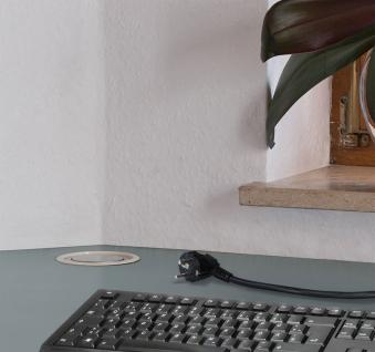 Brennenstuhl Tower-Power Tisch Steckdosenleiste 3-fach versenkbar Bild 3