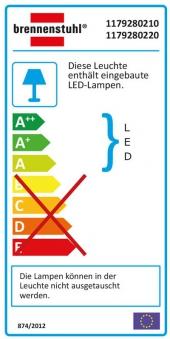 Brennenstuhl SMD-LED Leuchte L DN 2405 12 W mit Bewegungsmelder weiß Bild 2