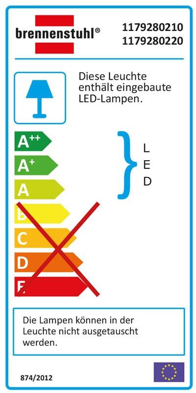 Brennenstuhl SMD-LED Leuchte L DN 2405 12 W weiß Bild 2