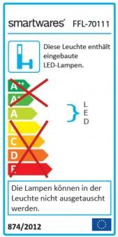 Smartwares LED Scheinwerfer Slim Fluter FFL-70111 100W 6800lm Bild 2