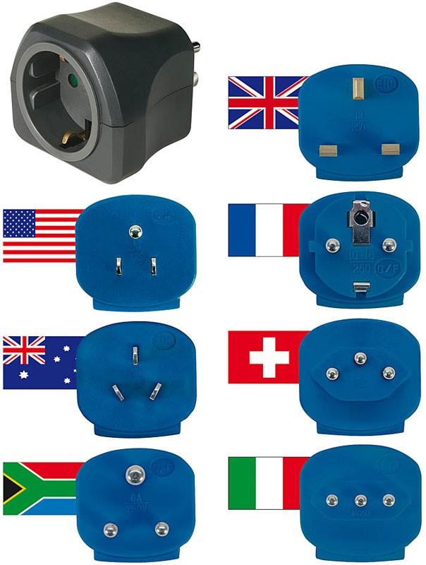 Brennenstuhl Reisestecker-Set mit 10 A Sicherung 7 Stecker Bild 1