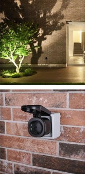 Outdoor Mini Funkstecker Set Smartwares 3000W  mit Fernbedienung Bild 2