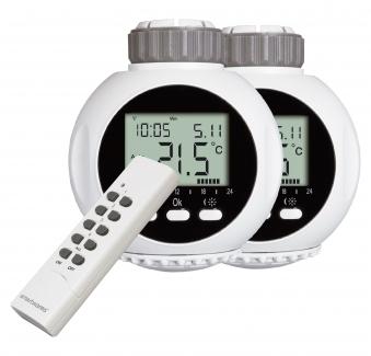 Smart Home Heizkörperthermostat SHS53002EU 2er Set + Fernbedienung Bild 1