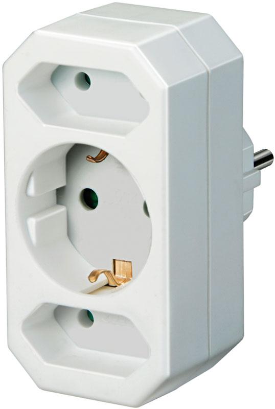 Brennenstuhl Adapterstecker 1 Schutzkontakt und 2 Euro Bild 1