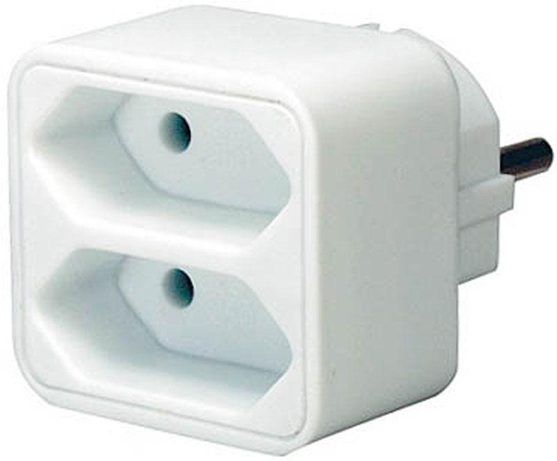 Brennenstuhl Adapterstecker Schutzkontakt 2 Euro Bild 1