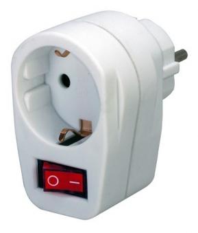 Brennenstuhl Adapterstecker Schutzkontakt mit Schalter Bild 1