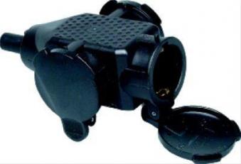 Kunststoff 3-f. Kupplung,schwarz Bild 1