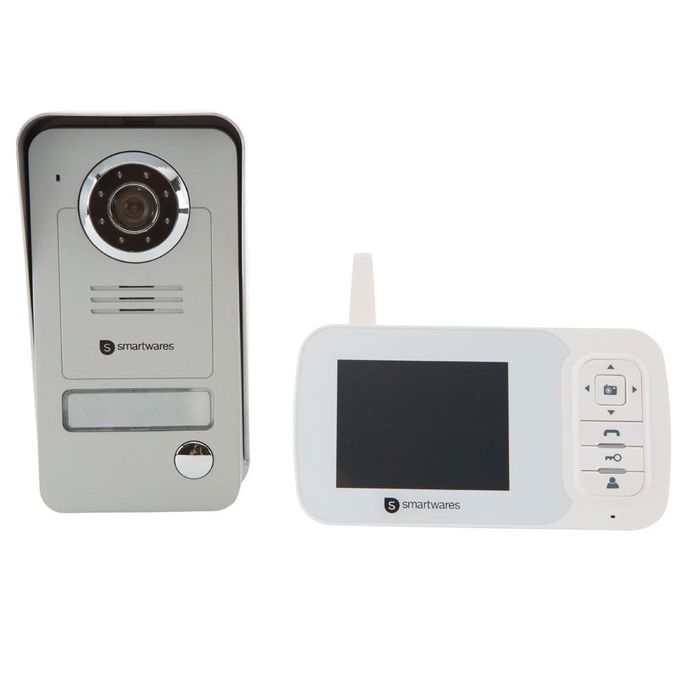 Funk Video Türsprechanlage VD38W WL Smartwares für 1 Familienhaus weiß Bild 1