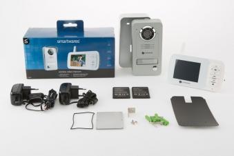 Funk Video Türsprechanlage VD38W WL Smartwares für 1 Familienhaus weiß Bild 3