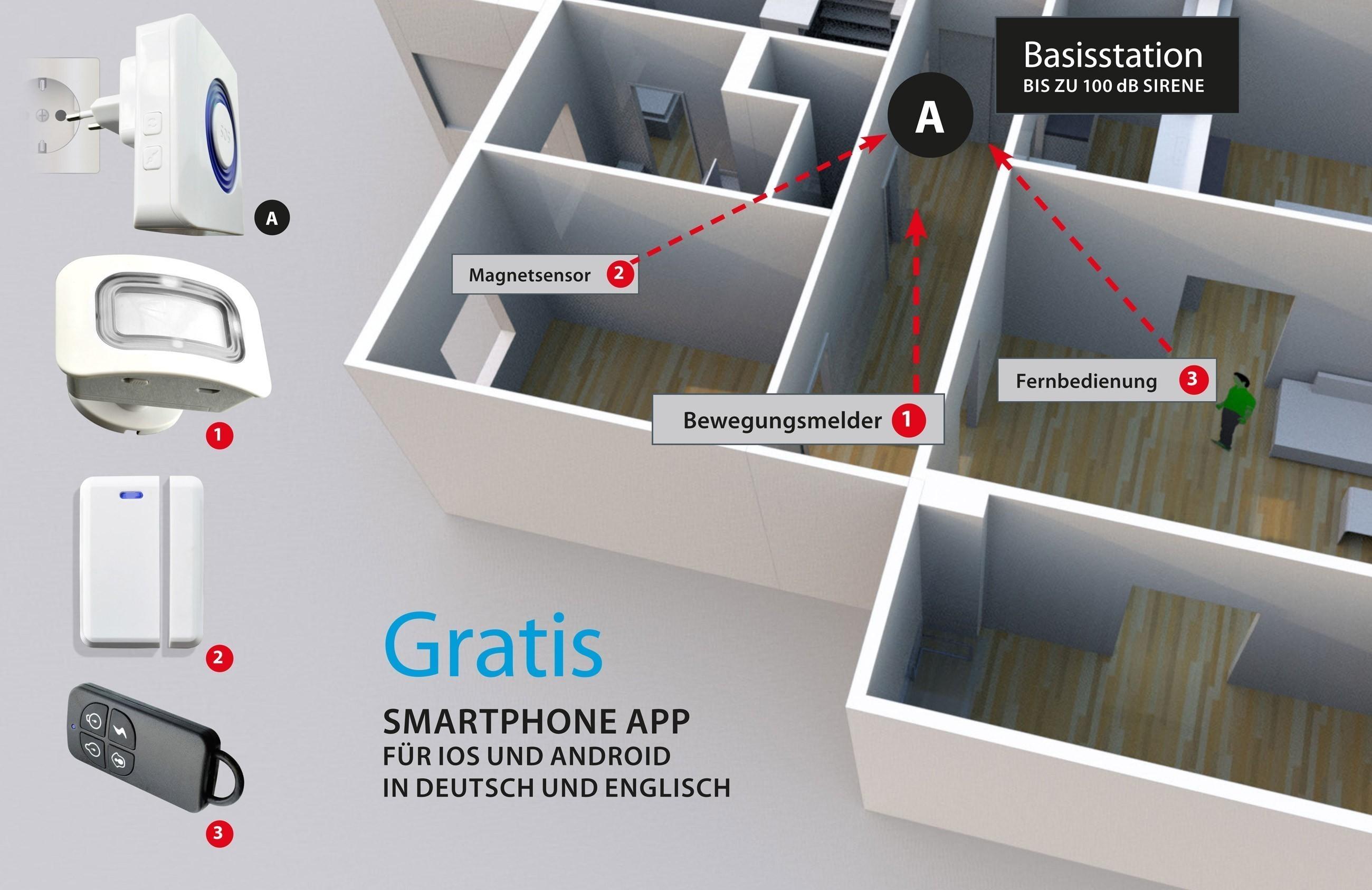 Alarmanlage X4-LIFE Security DIY WLAN mit App Bild 1
