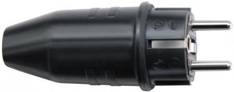 Brennenstuhl Schutzkontakt Gummistecker SC IP 44 schwarz Bild 1
