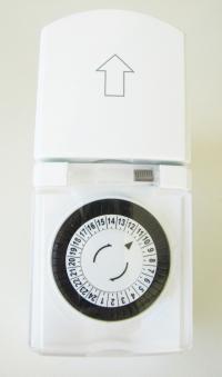 zeitschaltuhr ip 44 f r au en mechanisch gr n bei. Black Bedroom Furniture Sets. Home Design Ideas