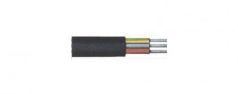 Gummischlauchleit.H05RR-F3G1,5mm2 schwarz,20m Ring Bild 1