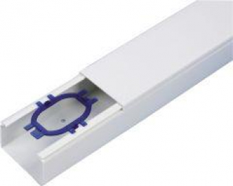 Kabelkanal 40X60 mm, 2 m weiß Bild 1