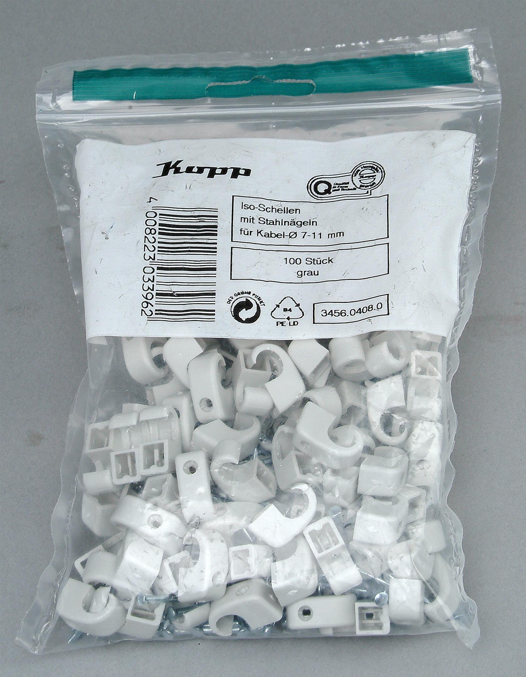 Kopp Iso-Schellen 7 - 11mm mit Stahlnadeln 100Stück Bild 1