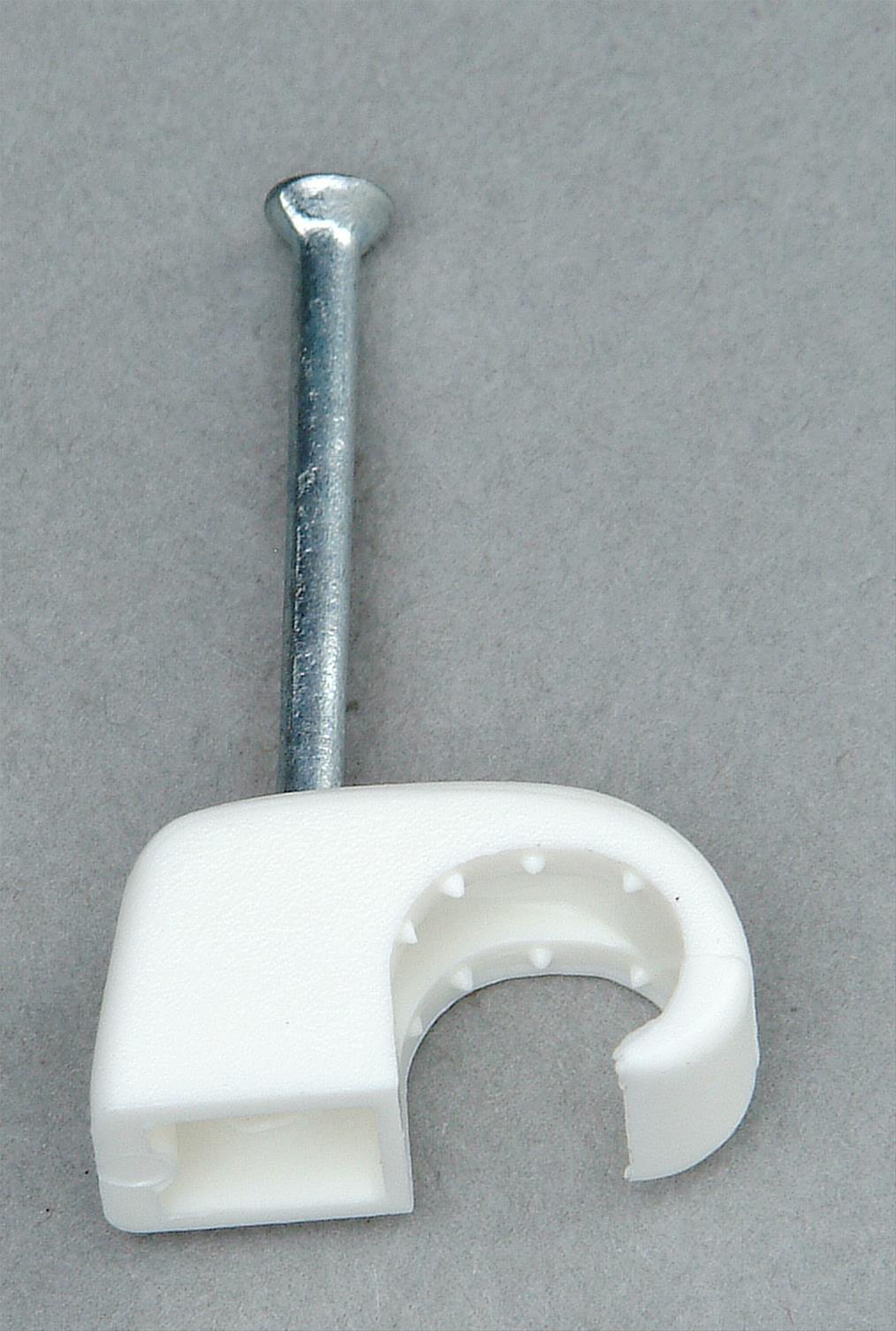 Kopp Iso-Schellen 7 - 11mm weiß mit Stahlnadeln 30mm 50 Stück Bild 1