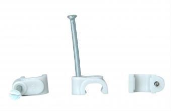 Kopp Kabelschellen für 2adrige Flachlitze mit Stahlnadeln 50Stück grau Bild 1