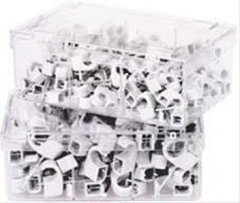 Nagelschelle, weiss 7-12 mm, Nagellänge 35mm a 100 Stck. Bild 1