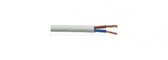 PVC-Schlauchleit. H03VV-F2x0,75mm2, 25m-Ring,ws Bild 1