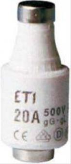 Sicherungspatronen a 5 StDII 500V 20A Gl Bild 1