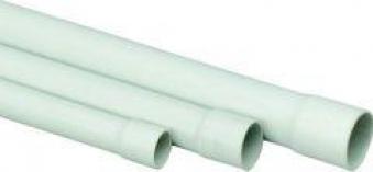 Stangenrohr PVC, 2 m EN 25 mm, grau Bild 1