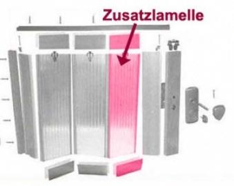 Zusatzlamelle für Grosfillex Falttür Larya Eiche hell