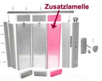 Zusatzlamelle für Grosfillex Falttür Larya weiss glänzend