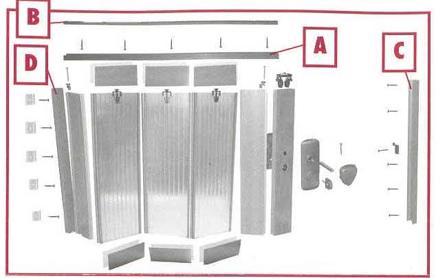 Falttür Spacy von Grosfillex Aluminium-Dekor Bild 4