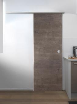 Schiebetüre Door in Box von Grosfillex Megeve grau Bild 1