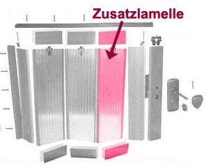 Zusatzlamelle für Grosfillex Falttür Axia Eiche hell Bild 1