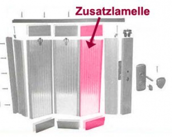 Zusatzlamelle für Grosfillex Falttür Spacy Aluminium Bild 1