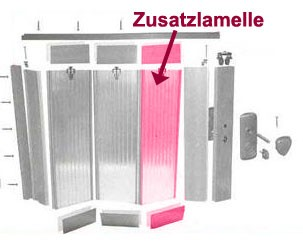 Zusatzlamelle für Grosfillex Falttür Spacy Kirschbaum Bild 1