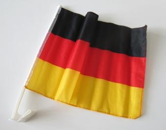 Autofahne mit Fensterhalterung 30x41,5cm Autoflagge Deutschland Bild 1