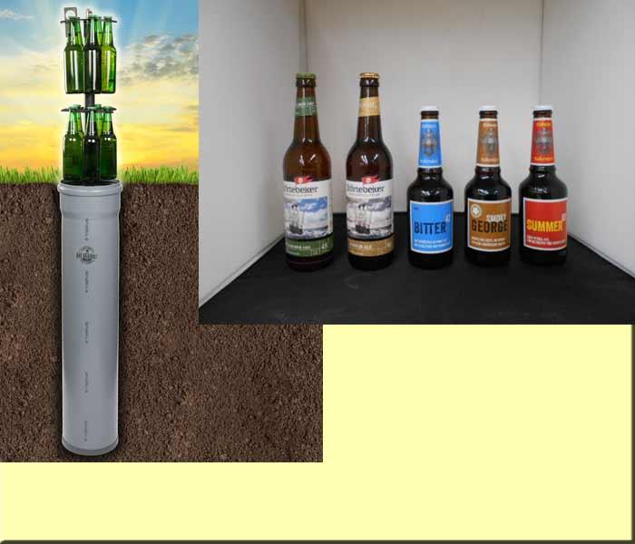 Bierkühler Hopfenhöhle mit 5 x Spezialbiere Rittmayer & Störtebeker Bild 1