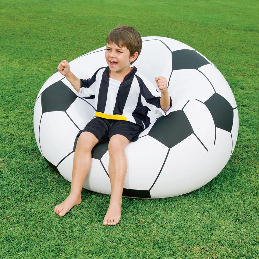 Fußball Sitzsack Bestway 114x112x71cm Bild 1