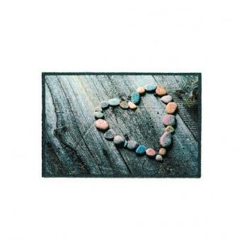 Fußmatte / Schmutzfangmatte Heart grau 50x57cm Bild 1