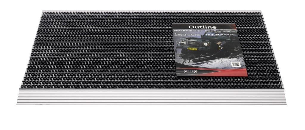 Hamat Außenmatte / Bürstenmatte Outline 50x80cm anthracite Bild 1