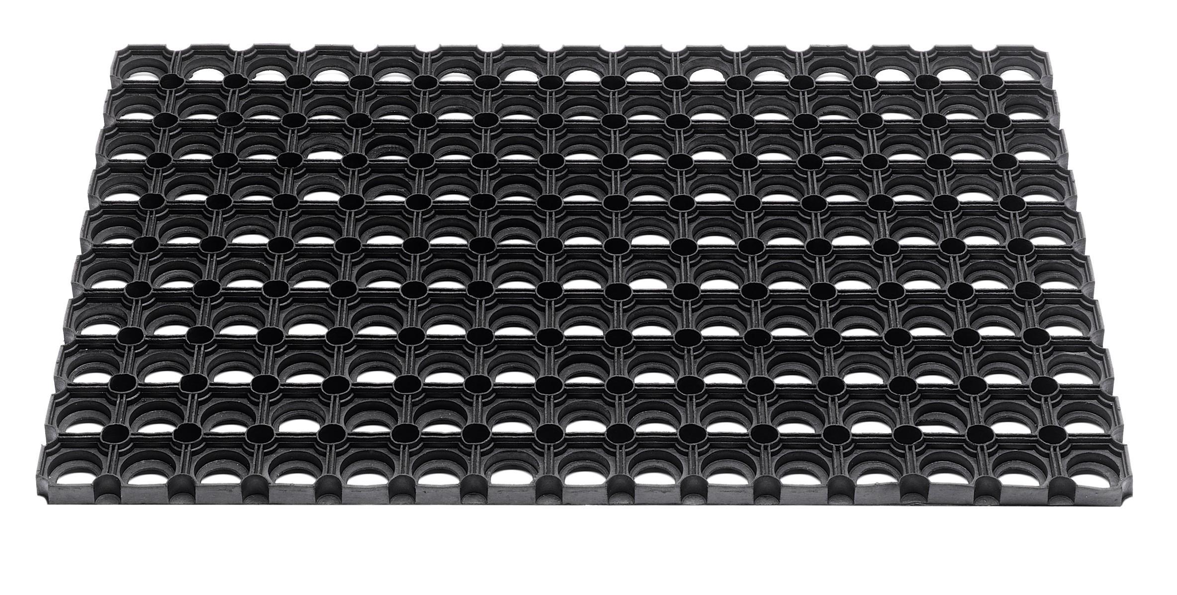 Hamat Außenmatte / Gummiwabenmatte Domino 40x60cm schwarz Bild 1