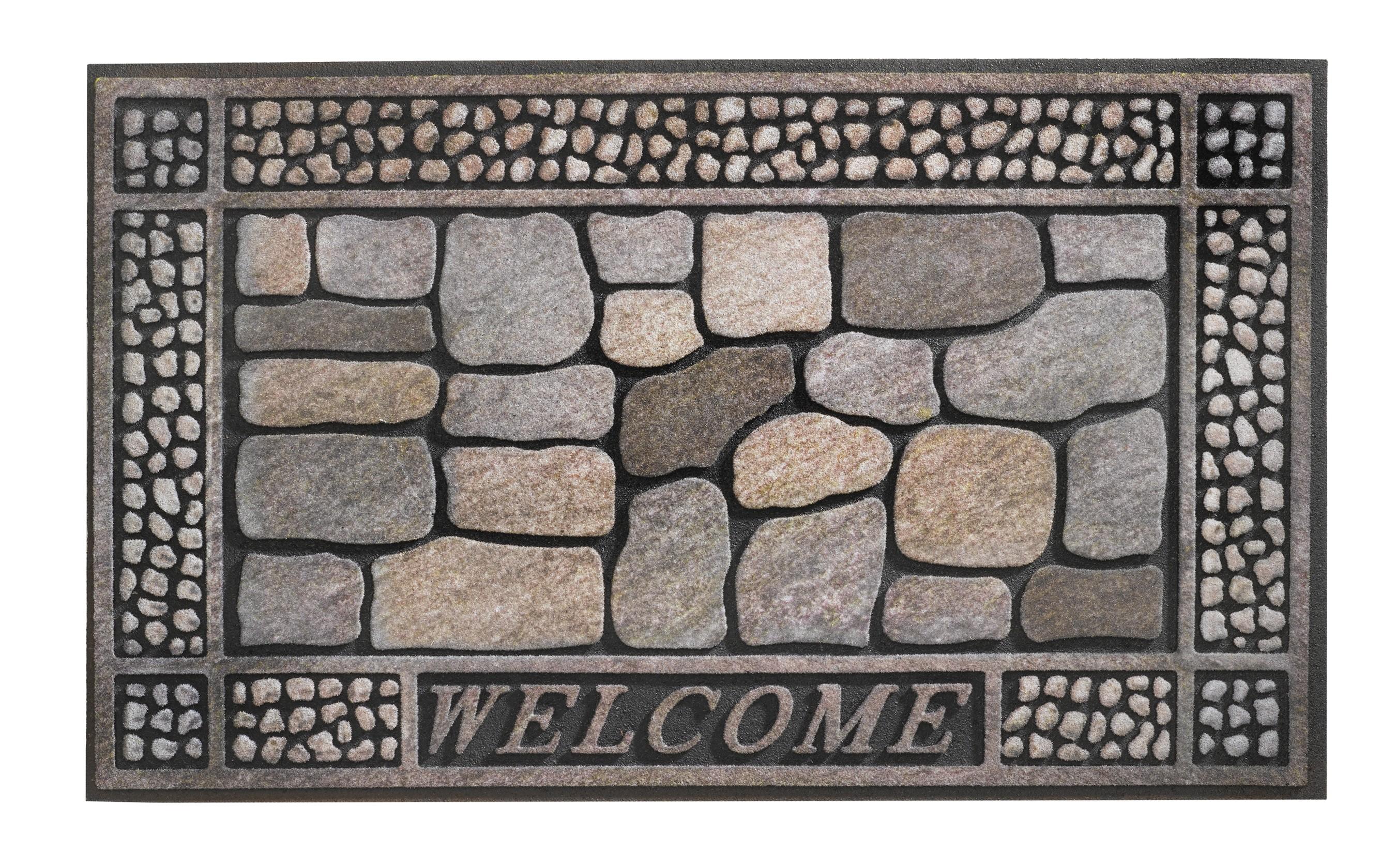 Hamat Fußmatte / Eco-Fußmatte Eco Master 45x75cm Welcome Stones Bild 1